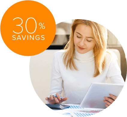 Save 30% or more with all-inclusive monthly pricing from a single provider